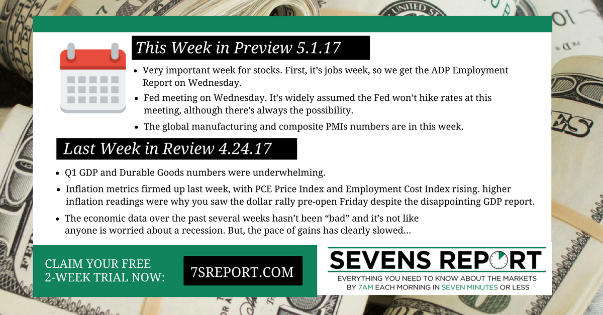 The Sevens Report - This week and last week
