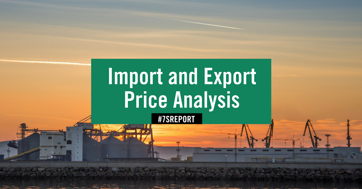 Import And Export Price Analysis September 20 2017