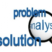 Problem-Analysis-Solution with magnifying glass