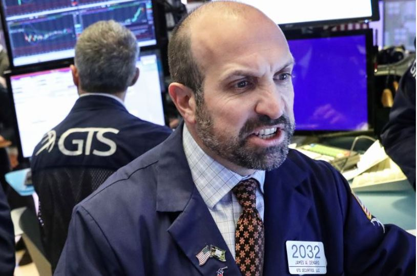 Stock Buyer on the stock exchange floor