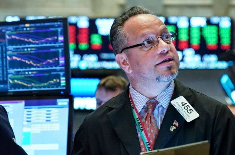 Trader on the NY Stock Exchange Floor