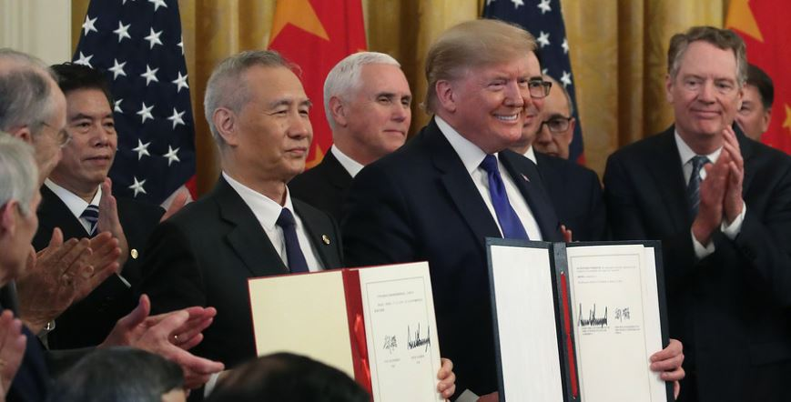President Trump and Chinese Vice Premier Liu